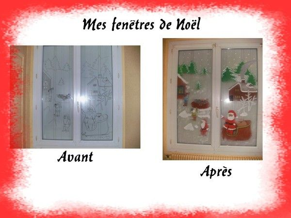 Voici nos fen tres de no l for Decoration fenetre noel peinture
